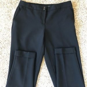 WHBM black tapered ankle pant